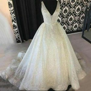 Dresses & Skirts - Gown Prom Bridesmaid Sequin Dresses Long Backless